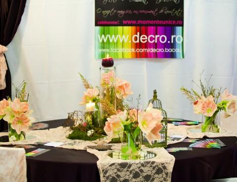 Aranjament masă la Targul de Nunti Bacău 2012