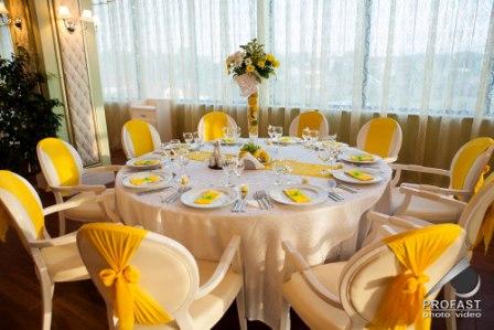 Decoratiuni nunta galben